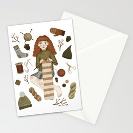 forest knitting Stationery Cards