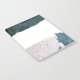 Between Us: a minimal, abstract mixed-media piece in blues, muted purple, and pinks Notebook