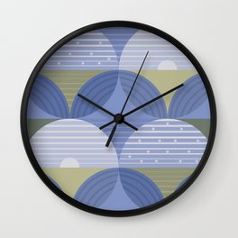 Blueberry Fields Wall Clock