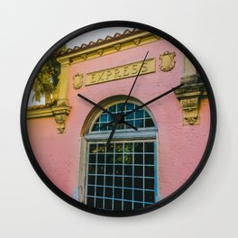 Train Station Tropicale Wall Clock