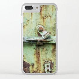 Rusty, worn and weathered Clear iPhone Case