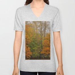 Leaning Into Autumn Unisex V-Neck