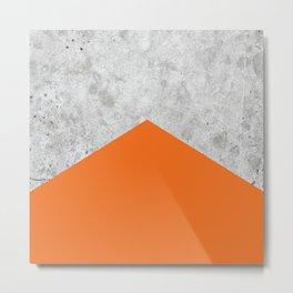 Geometric Concrete Arrow Design - Orange #118 Metal Print