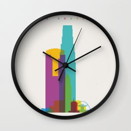 Shapes of Los Angeles accurate to scale Wall Clock