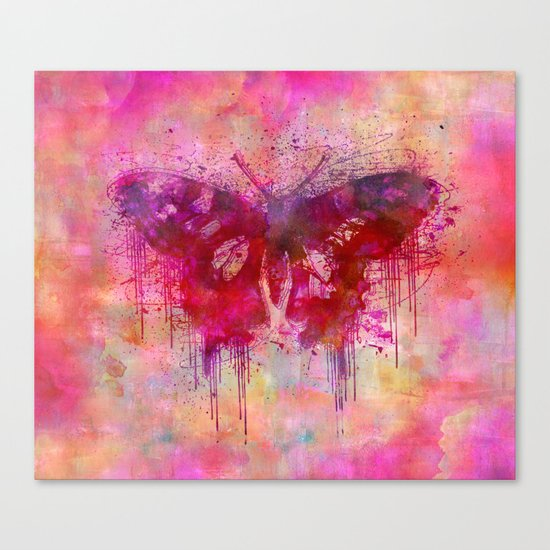 Artsy butterfly watercolor lllustration Canvas Print