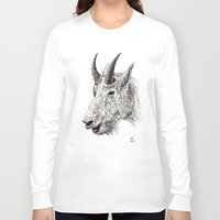 goat Long Sleeve T-shirts featuring Goat by Ursula Rodgers
