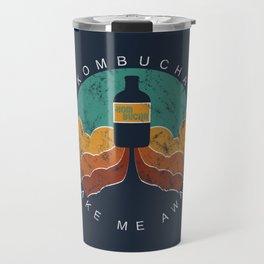 "KOMBUCHA ""Take Me Away"" Rocket // Mushroom Tea Graphic Design Scoby Health Drink Bubble Scooby Travel Mug"