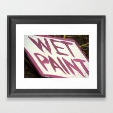 Wet Paint Framed Art Print