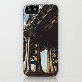 Under Manhattan bridge iPhone Case