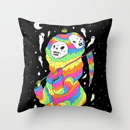 Slimey Space Reaper Throw Pillow