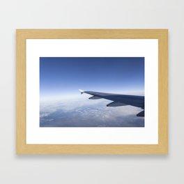 Heavenly Blue Skies Flying Framed Art Print