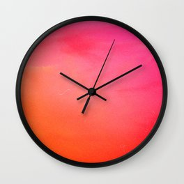 PinkOrange Gradient Wall Clock