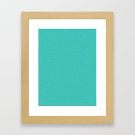 Turquoise Saturated Pixel Dust Framed Art Print
