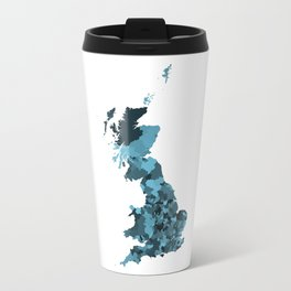 Great Britain Map Print Abstract in Camouflage Marine - A great talking piece for the home! Travel Mug