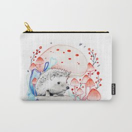 Hedgehog in Mushrooms Carry-All Pouch