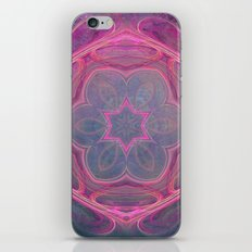whimsical fractal love in pink iPhone & iPod Skin