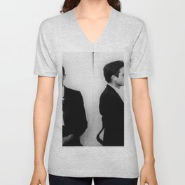 Johnny Cash Mug Shot Horizontal Unisex V-Neck