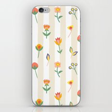 Paper Cut Flowers iPhone & iPod Skin