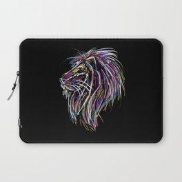 Neon Glow Lion (He)art Laptop Sleeve