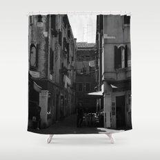 Calle Marcello b&w Shower Curtain