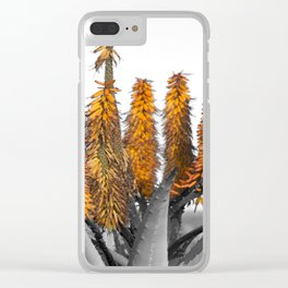 cactus floral Clear iPhone Case