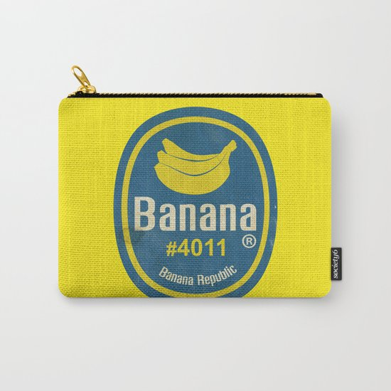 Banana Sticker On Yellow Carry-All Pouch