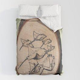 Devil Ray Wood Slice Comforters