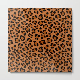 Leopard Print Scribble Pattern Metal Print