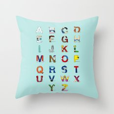 VGC alphabet Throw Pillow