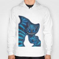 cheshire cat Hoodies featuring Cheshire cat by trevacristina