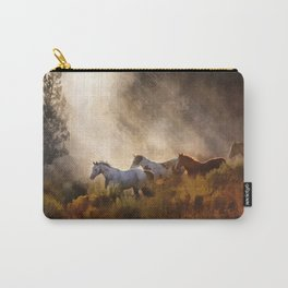 Horses in a Golden Meadow by Georgia M Baker Carry-All Pouch