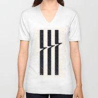 glitch V-neck T-shirts featuring Glitch by Chad De Gris