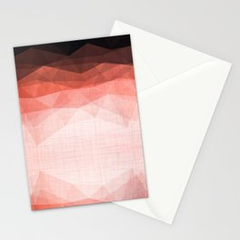 Ocean Night - Abstract Metallic Geometry Coral Stationery Cards