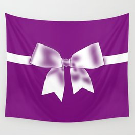 Purple Bow Wall Tapestry