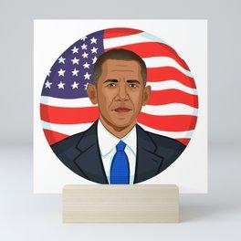 President Obama Mini Art Print