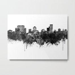 Columbia skyline in black watercolor Metal Print