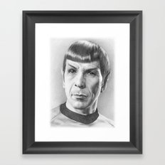 Spock - Fascinating (Star Trek TOS) Framed Art Print