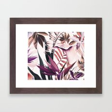 Magenta tropical Framed Art Print