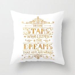 To the Stars - White Throw Pillow