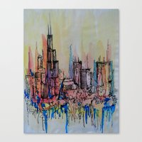 chicago Canvas Prints featuring Chicago by silvsstang