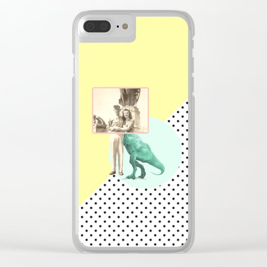 Who would like to date a t-rex Clear iPhone Case