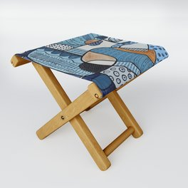 Scratched Below the Surface Folding Stool