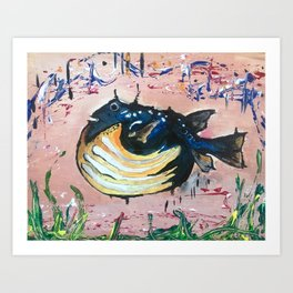 Holy Cowfish Art Print