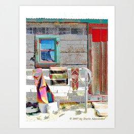 Bunkhouse Window Art Print