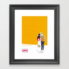 All you need Framed Art Print
