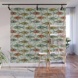 Vintage Color Block Fish Wall Mural