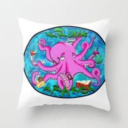 The Krunk Kraken  Throw Pillow