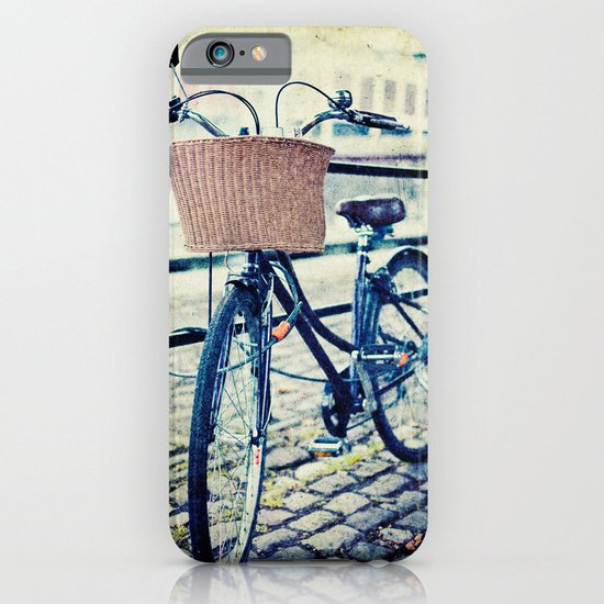 Locked bike in the city iPhone & iPod Case