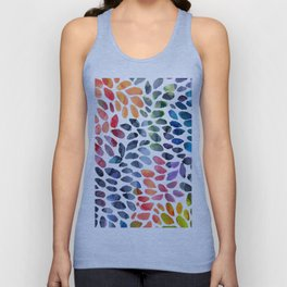Colorful Painted Drops Unisex Tank Top