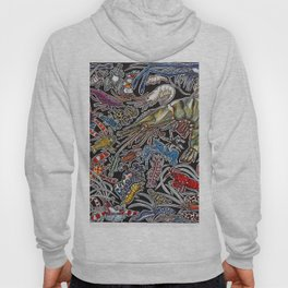 Prawns, gambas and shrimps for ocean lovers, marine biologists and scuba divers Hoody